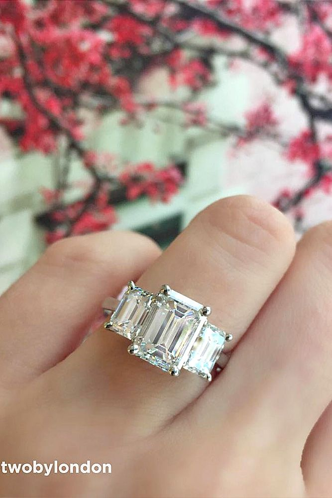 The 25 best Emerald cut engagement rings ideas on Pinterest