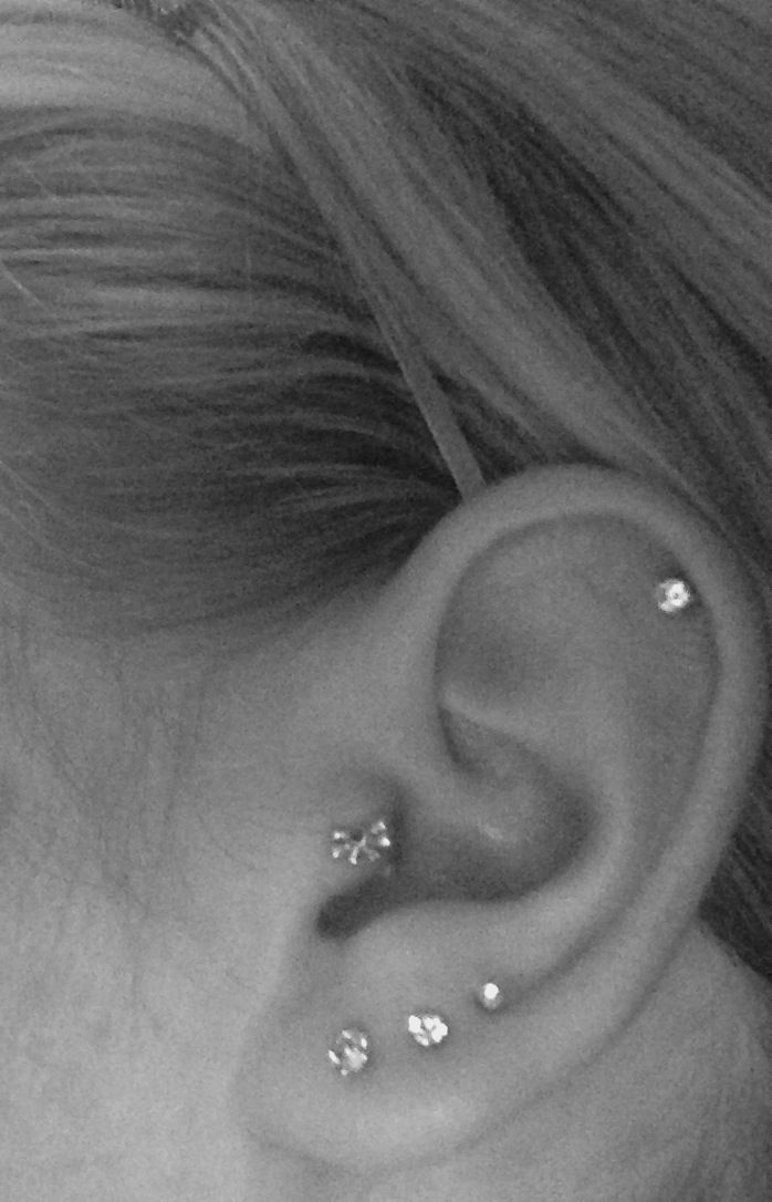 Tripple, tragus and cartilage piercings