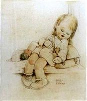Het slaperige schoolmeisje door Mabel Lucie Attwell...                                                                                lb xxx.
