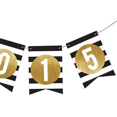 Graduation Party Decorations -- Grad Faux Foil and Stripes | Pear Tree Greetings  #decorations #faux #foil #Grad #graduation