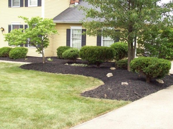 Simple Landscape Designs For Front Yards : Front yard landscape mulch bid example for the home
