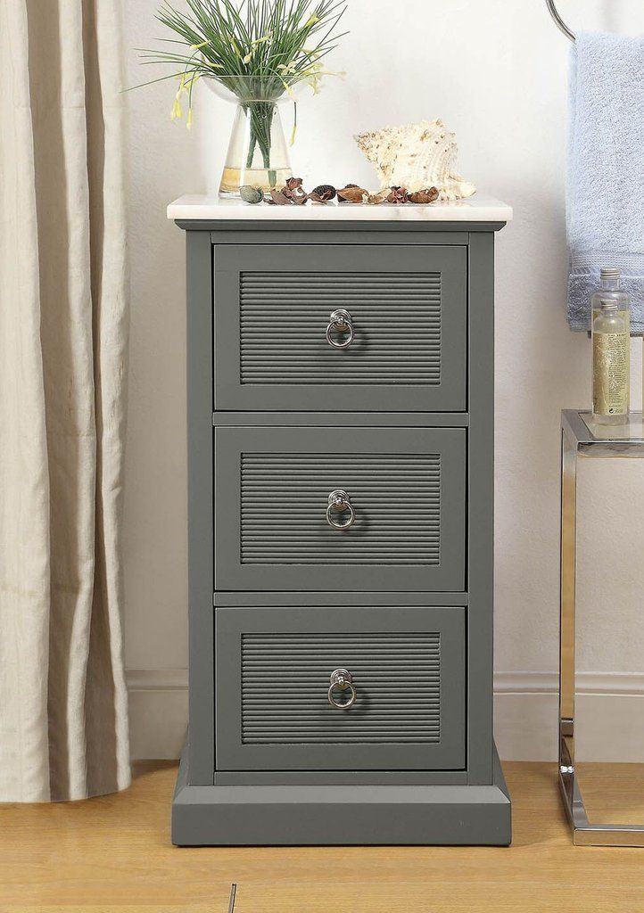 Great For Any Room In The House This Gorgeous Grey And White Marble Top Accent Cabinet Is A Perfect Beachy Styl Marble Top Dresser Accent Cabinet White Marble