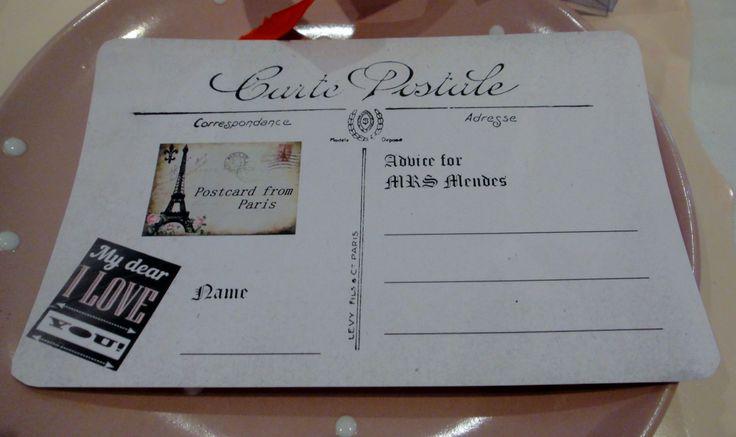 Paris Postcard Advice Card