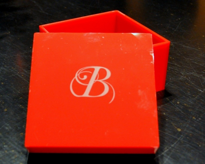 Acrylic handmade square box with your monogram; perfect to store your everyday jewelry