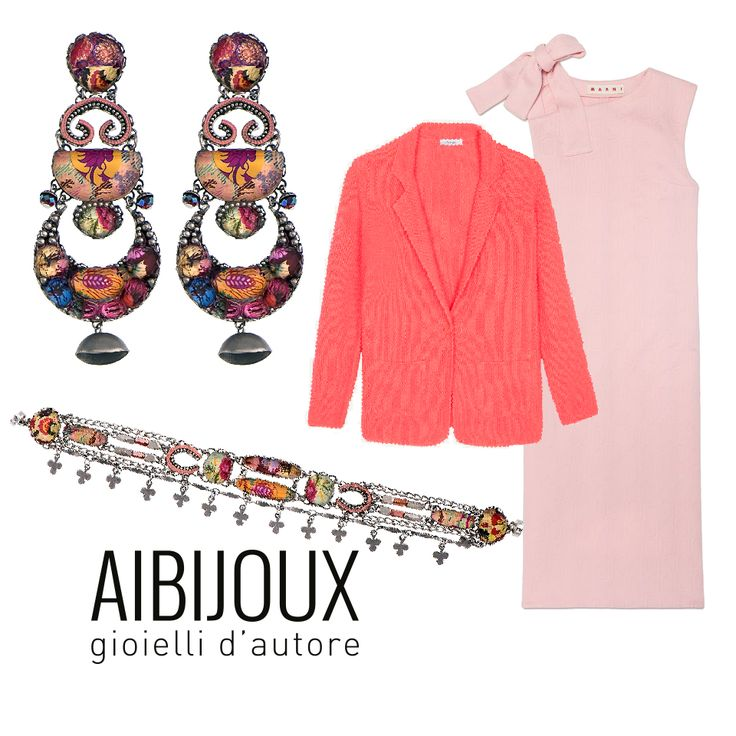 Bracciali e orecchini Ayala Bar, abito Marni, giacca Max&co. #AIBIJOUX #AyalaBar #outfits #fashionjewelry #ilnostrooutfit #Maxandco #Marni