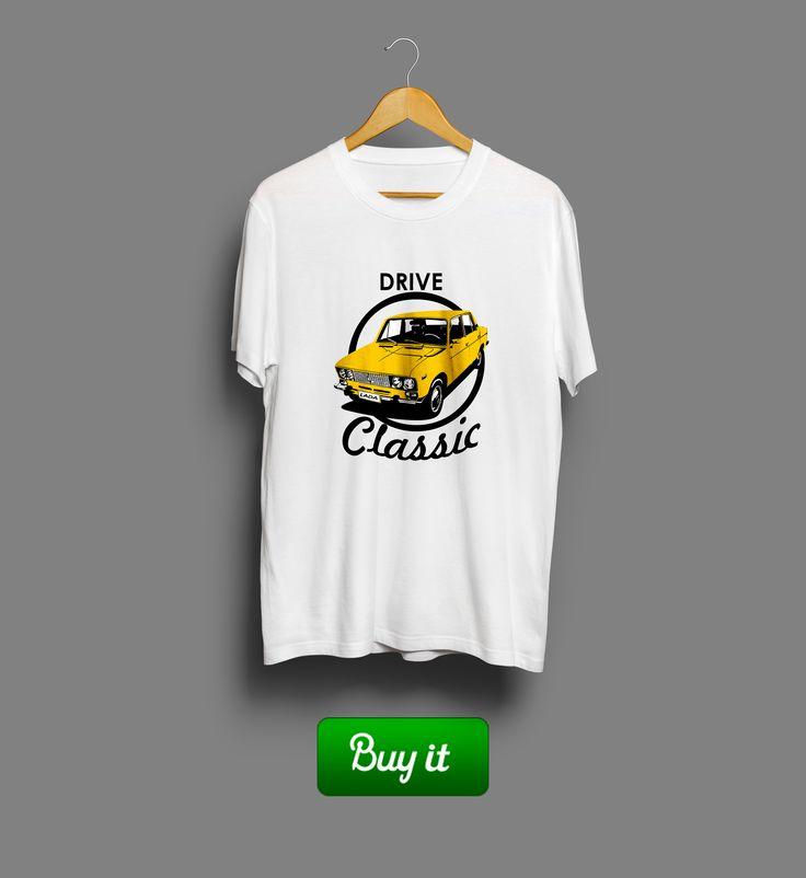 Drive classic   #drive #Lada #Sedan #лада #седан #футболка #tshirt #ВАЗ #авто #машина #car #old #classic #классика