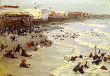 Edward Henry Potthast, Coney Island, 1914