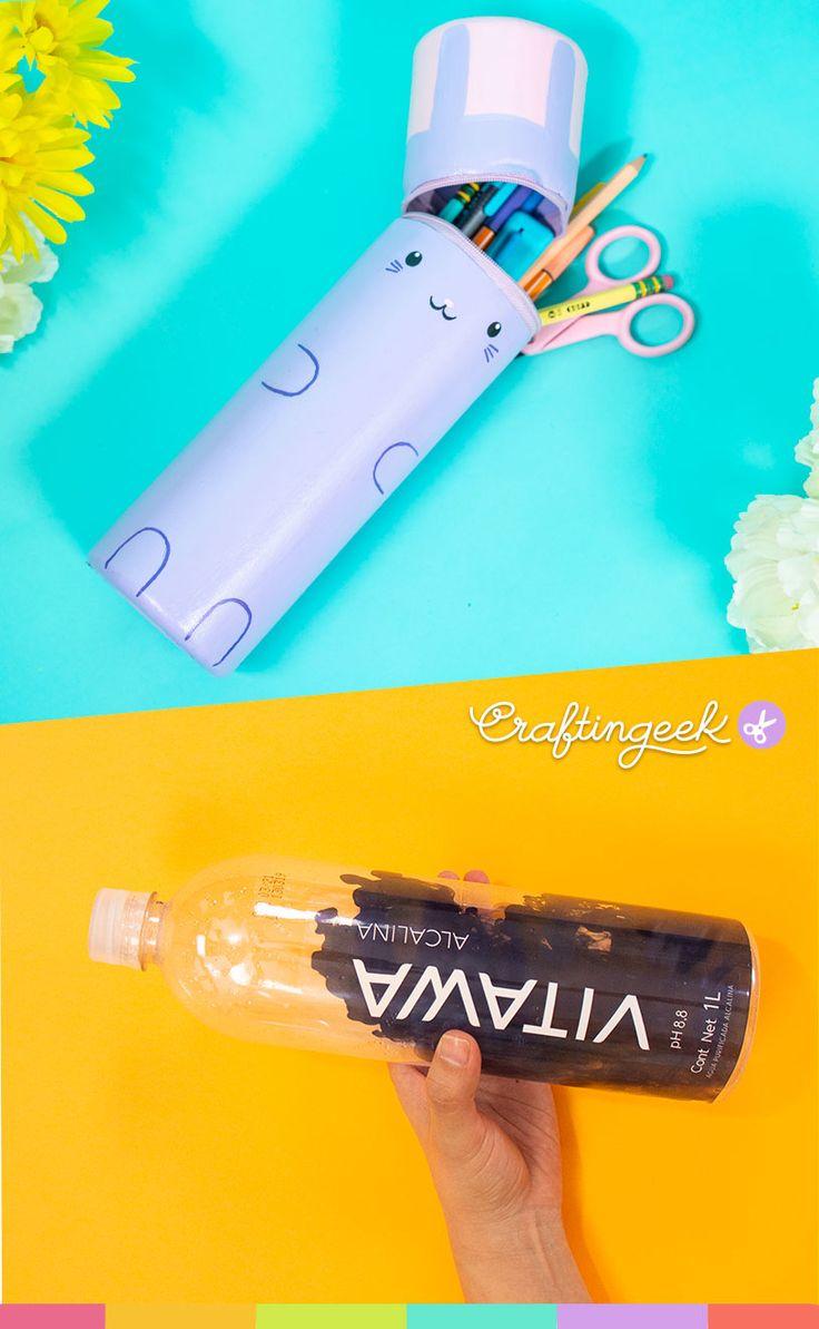 Crea un estuche de conejo con materiales reciclables Kawaii Diy, Cool Art, Fun Art, Ideas Para, Origami, Diy And Crafts, Day, Nails, Gifts