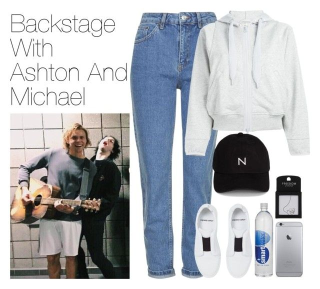 """""""Backstage with Ashton and Michael"""" by onedirectionimagineoutfits99 ❤ liked on Polyvore featuring Topshop, adidas, Pierre Hardy and New Black"""