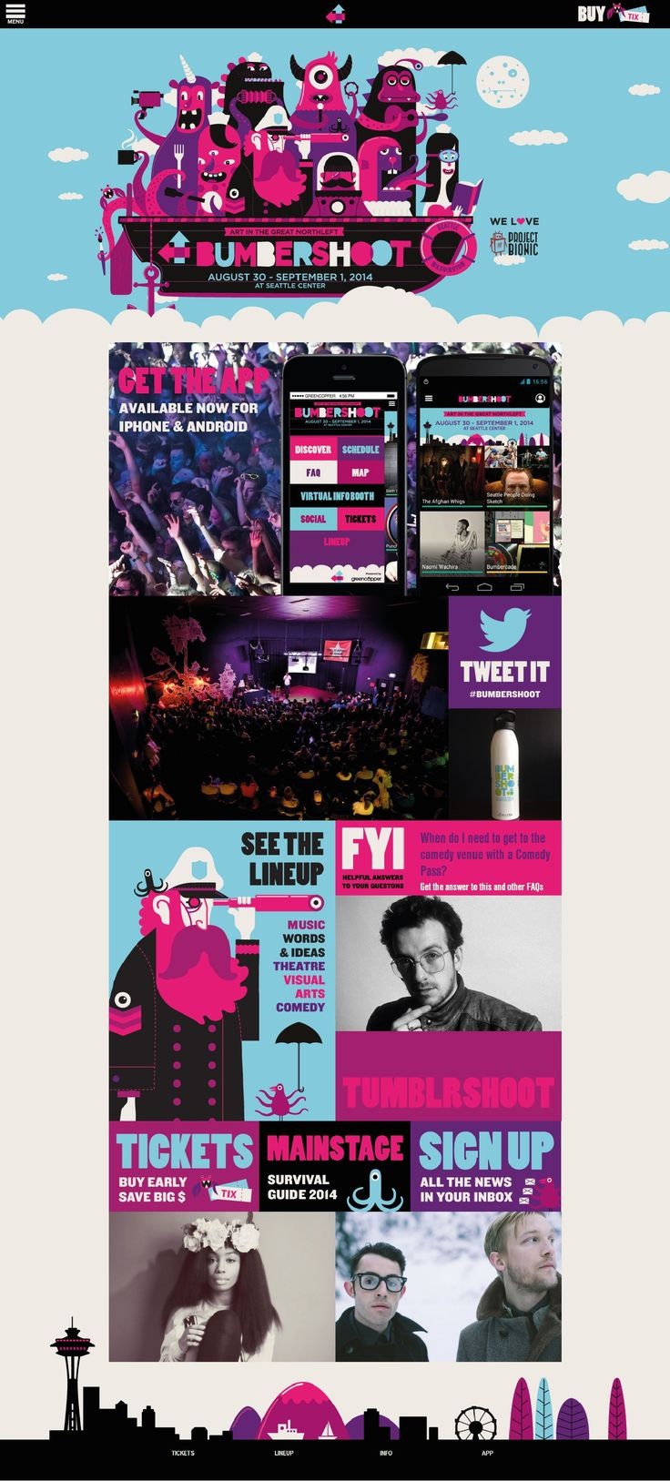 Unique Web Design, Bumbershoot #WebDesign #Design (http://www.pinterest.com/aldenchong/)
