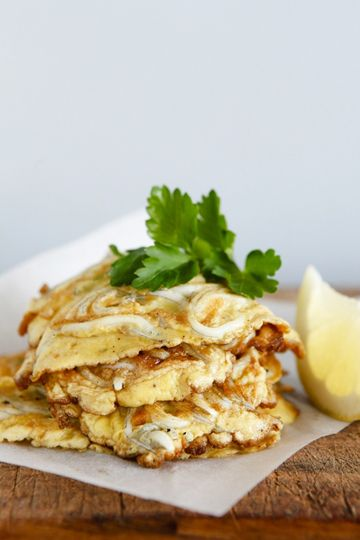 Whitebait fritters. A NZ classic. I made these in a youth hostel at the tip of the North Island