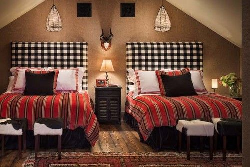 love those headboards mixed with the stripes! Guest Room, Bedrooms Boys, Guest Bedrooms, Decor Bedrooms, Bedrooms Design, Boys Bedrooms, Eclectic Bedrooms, Buffalo Check, Boys Room
