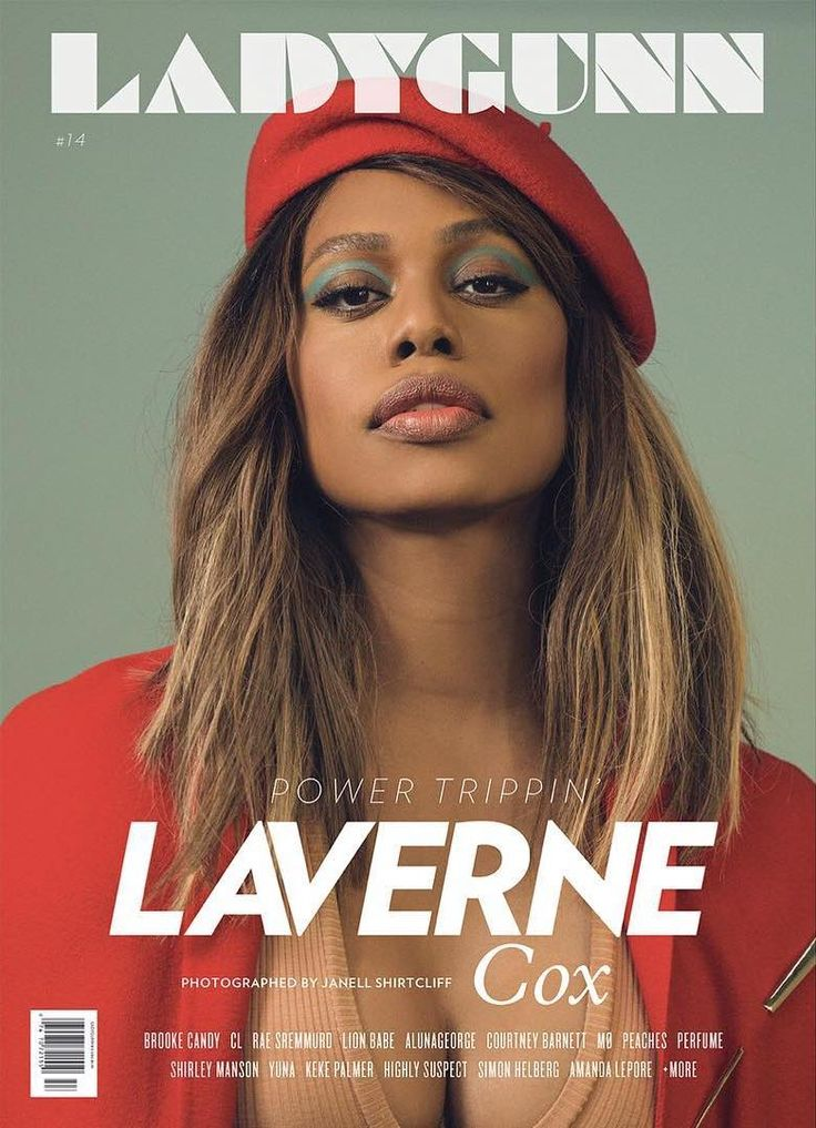 "celebsofcolor: "" Laverne Cox for LADYGUNN """