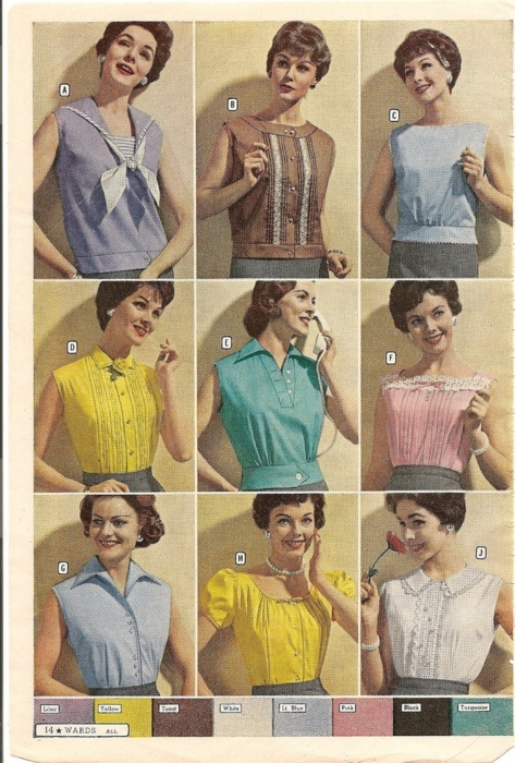 Retro Vintage Fashion Style Color Photo Print Ad Models