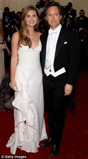 Met Gala 2014.    Pairing up: Lauren Bush Lauren and David Lauren