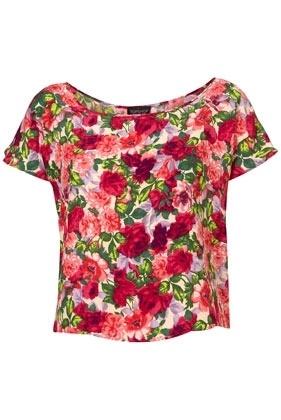 Bright Floral Crop Tee - Tops - Clothing - Topshop USA - StyleSays #spaweeksummer