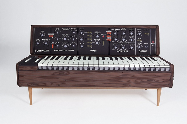 Minimoog analog synth sofa by Woouf Barcelona
