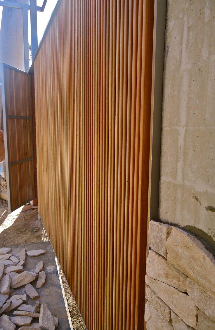 Vertical Timber Screening And Gate Reno Pinterest