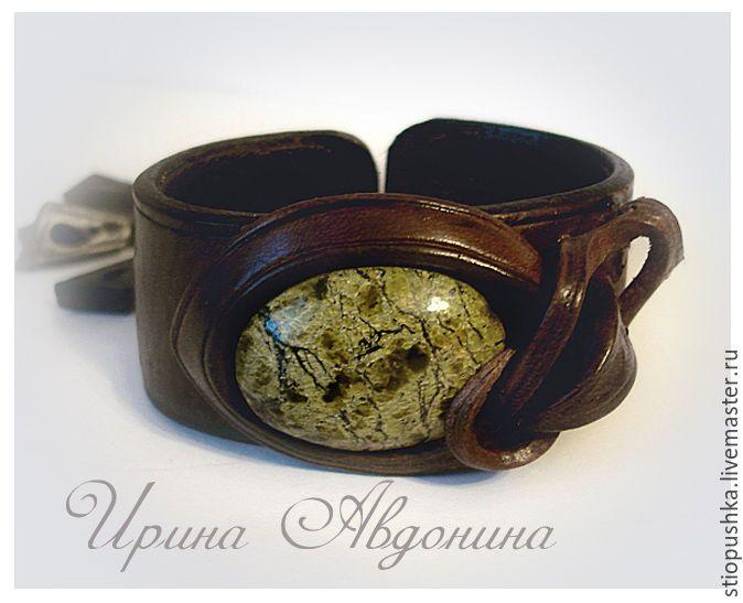Купить браслет из кожи Оригинальный - коричневый, браслет, браслеты, подарок, подарки, К Новому Году