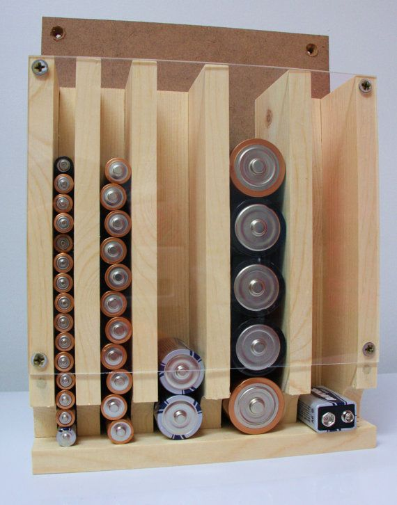 Battery Organizer and Storage by KevinWoodworks on…