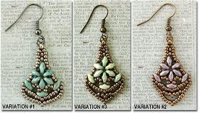 """Linda's Crafty Inspirations: Nunzia's """"Earrings Number One"""" - How to make my variations"""