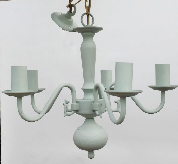 Ceiling light fixture in duck egg gorgeous annie sloan - Shabby chic lighting fixtures ...