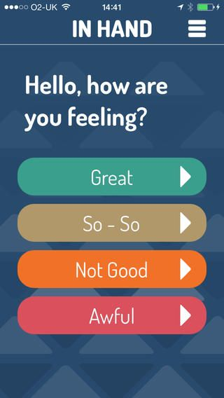 In Hand - an emotion regulation tool that gives you things to do to boost your mood when you need it.