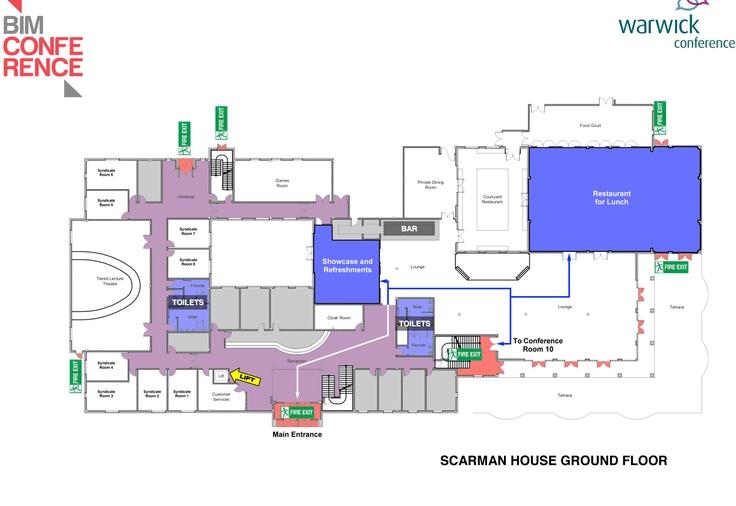 Conference Map Handout (front) Floor plans, Ground floor