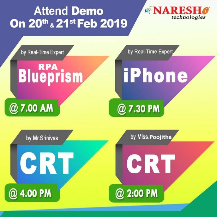 Attend Free Demo On New Batches On 20th & 21st Feb'19 By