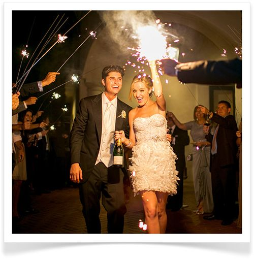 a sparkling send-off #wedding