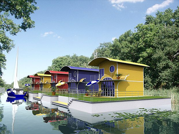 floating homes | Floating Homes - schwimmende Architektur | Architekturvisualisierung ...
