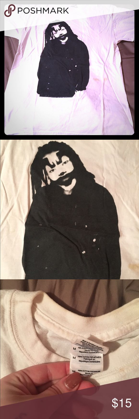 Shaggy 2 dope icp concert t shirt Insane clown posse icp shaggy 2 dope white concert t shirt size M has been worn and has smoke stains on the front bottom as pictured, purchased from hatchetgear.com hatchetgear Tops