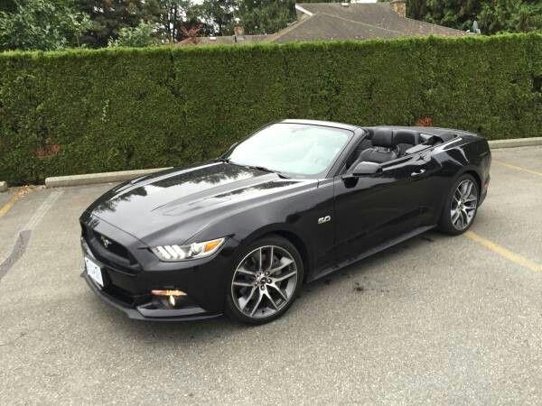 2015 Mustang GT convertible in tripple black