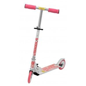 Monopattino-mod. FUN 125mm Bianco-Rosa. Questo monopattino è facile da guidare ed è prefetto per tutte le bambine che vogliono divertirsi all'aria aperta!! #scooter #FunSport #Roces