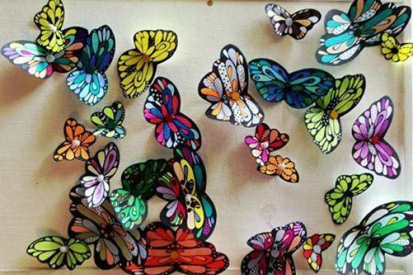 Sommerfugle til print   Kreativ med ungerne