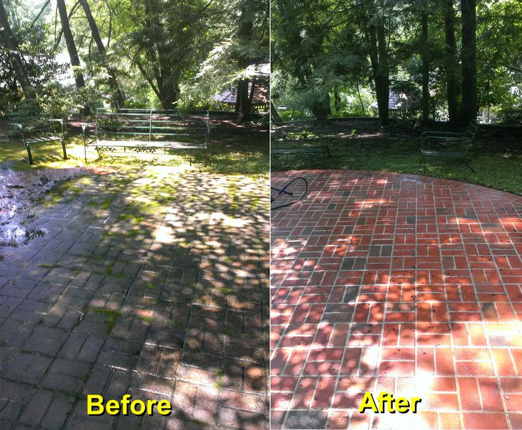 Backyard Brick Patio Power Washing Project