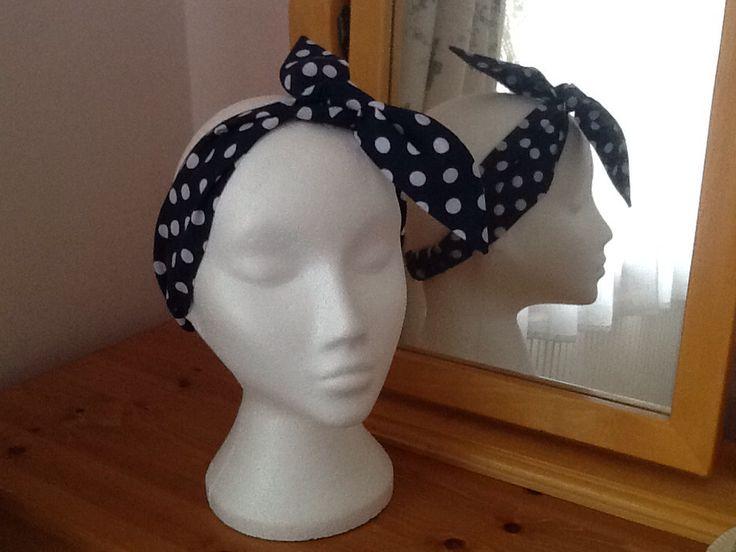 Handmade 'Rockabilly' style headband. See Face Book - Felicity-Ann Bags