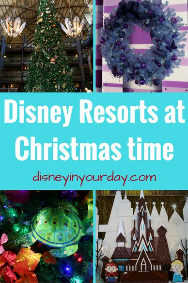 Disney resorts at Christmas time - see how the resorts at Disney World are all decked out for the holidays!