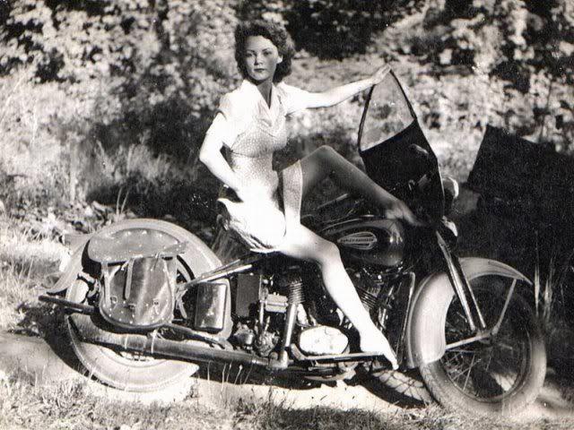 babes on vintage motorcycles | Vintage Motorcycle Girls 068