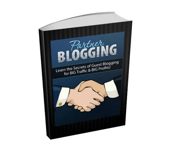 """Blogging Ebook - """"Partner Blogging - Learn the Secrets of Guest Blogging for BIG Traffic and BIG Profits!""""    Learn the Secrets of Partnership Blogging for UNLIMITED FREE TRAFFIC and INSTANT AUTHORITY in any Niche Market You Choose!    -----------------------------------------------------------------------------    You'll discover:    * The easiest way to get in direct contact with unlimited customers and prospects, regardless of your niche market    * How you can """"swipe"""" premium traffic…"""