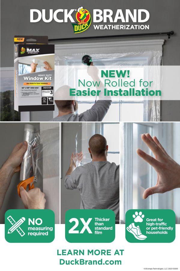 Duck Brand Max Strength Rolled Window Insulation Kit Window Insulation Kit Window Insulation Home Insulation