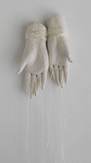 This reminds me of a great podcast of selected shorts. 3.23.2013 http://www.selectedshorts.org/onair/ True Selves, Hidden Selves 'Hands Tied' by Bonnie Marie Smith.