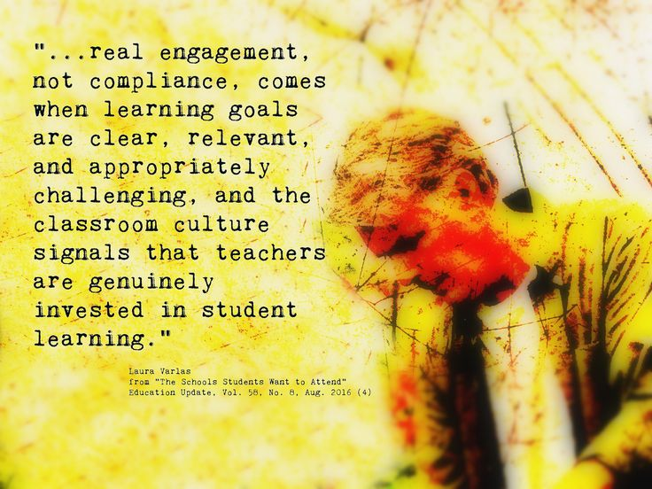 "https://flic.kr/p/MkAP5f | Educational Postcard: ""...real engagement, not compliance, comes when learning goals are clear, relevant, and ...."" 