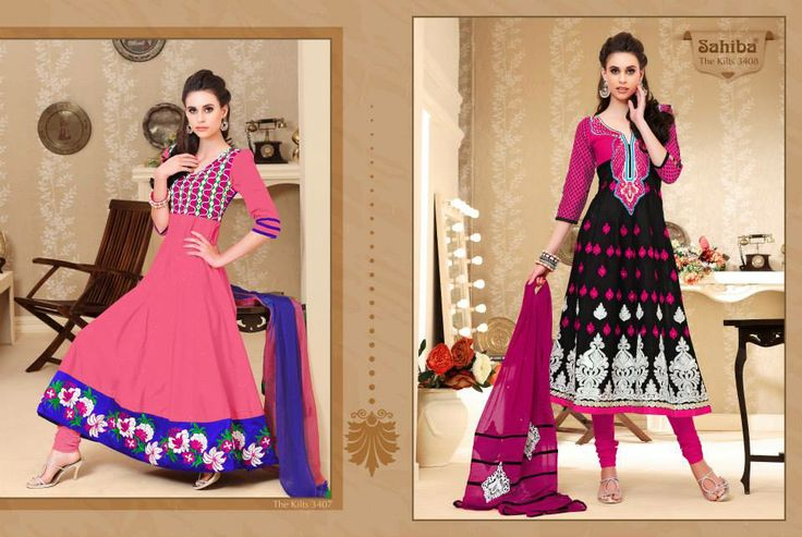www.sahibafabrics.com Follow the link #sahiba #anarkali #black #indianfashion #indian #elegant