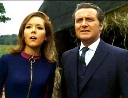 Diana Rigg as Emma Peel & Patrick Macnee as John Steed - I absolutely loved The Avengers, still do.