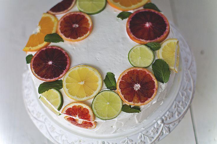 Lemon, vanilla cake