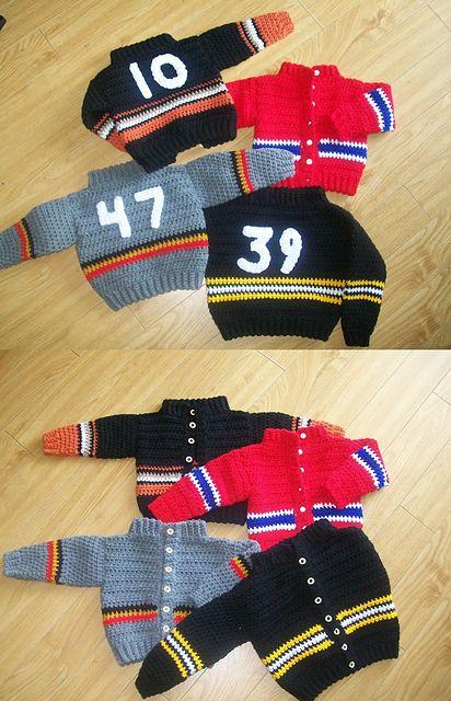 Ravelry: Baby sweater, Hockey sweater pattern by Wanetta Cavanaugh