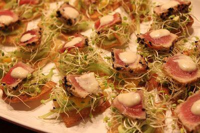 Mae's Kitchen: Yellowtail Tuna with Crispy Wonton Wrapper