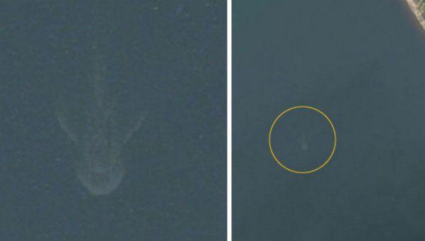 ¿Apple Maps capturó al Monstruo del Lago Ness?  Una imagen registrada por el servicio satelital de la empresa de la manzanita enseña una silueta en el famoso lago en Escocia que se trataría del mítico monstruo. http://www.diariopopular.com.ar/c189610