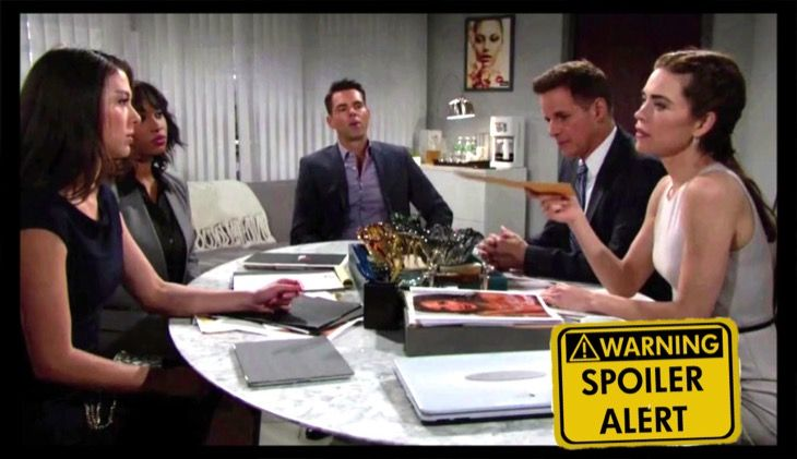 """The Young and the Restless"" spoilers for Wednesday, July 5, tease that Victoria (Amelia Heinle) will reluctantly sign off on the settlement. At Brash and Sassy, Victoria updates Billy (Jason Thompson) before Michael (Christian LeBlanc) shows up. Victoria looks over the paperwork and agrees to the t"